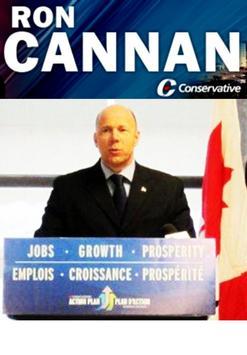 MP Ron Cannan poster