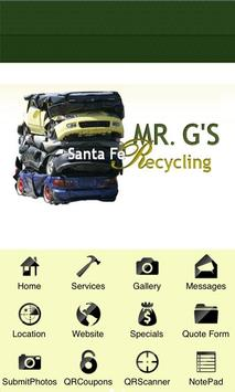 Santa Fe recycles with Mr G's poster