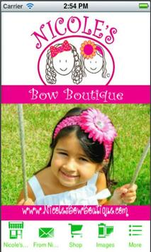 Nicole's Bow Boutique poster