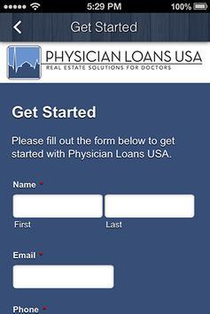Physician Loans USA apk screenshot