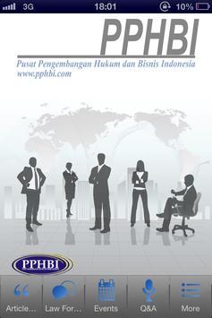 PPHBI Business & Law poster