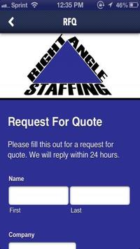 Right Angle Staffing poster