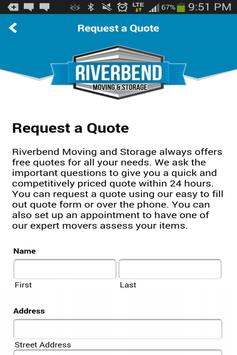 Riverbend Movers and Storage apk screenshot