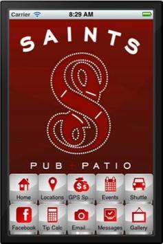 Saints Pub + Patio poster