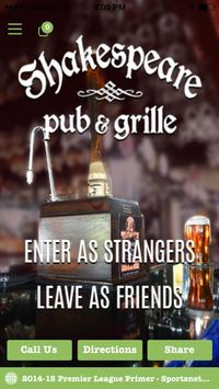 Shakespeare Pub & Grill poster