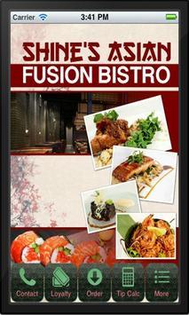 Shine's Asian Fusion Bistro poster