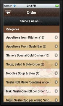 Shine's Asian Fusion Bistro apk screenshot