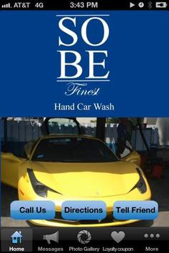 SoBe Finest Hand Car Wash poster
