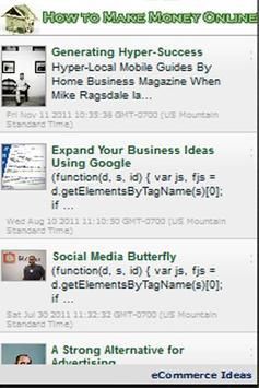 How to Make Money Online! apk screenshot