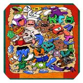 Doodle Art Kertas Dinding icon