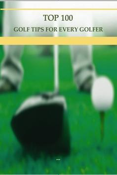 Top 100 Golf Tips poster