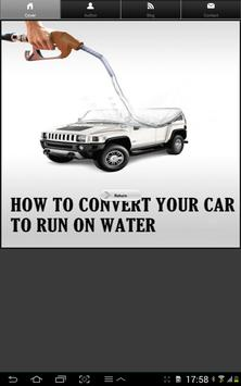 Water as Car Fuel poster