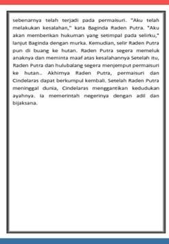 Cerita Rakyat CINDELARAS apk screenshot