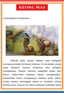 Cerita Rakyat Keong Mas poster
