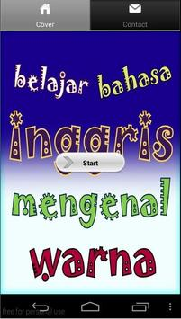 Learn Indonesian - Color poster