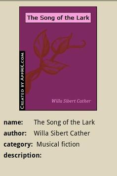 The Song of the Lark apk screenshot