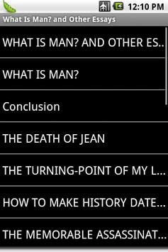What Is Man? and Other Essays apk screenshot