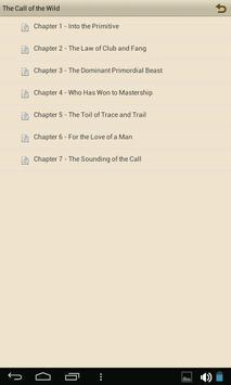 The Call of the Wild - eBook apk screenshot