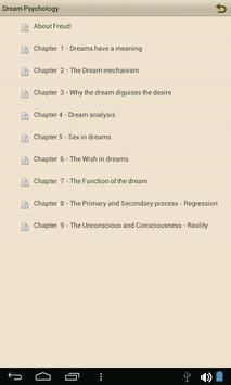 Dream Psychology - eBook apk screenshot