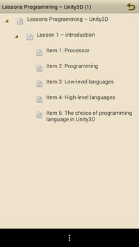 Lessons for Unity. Part 1 apk screenshot