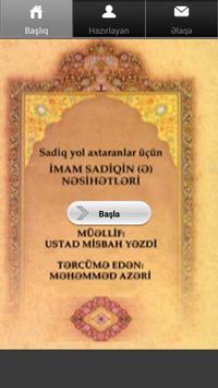İmam Sadiq (ə) Nəsihətləri poster