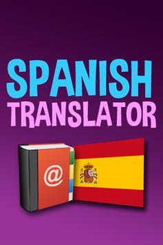 Spanish English Translator App poster