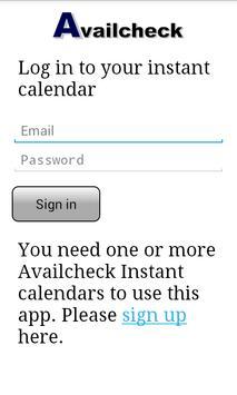 Availcheck Calendar poster