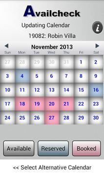 Availcheck Calendar apk screenshot