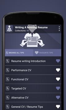 Writing a Winning Resume poster