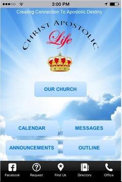 Christ Apostolic Life Church poster