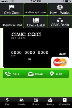 CIVIC Card poster