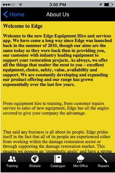 Edge Equipment Hire apk screenshot