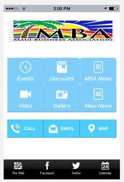 The Maui Business Association poster