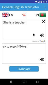 Bengali English Translator apk screenshot