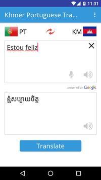 Khmer Portuguese Translator apk screenshot