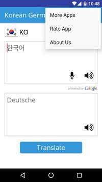 Korean German Translator apk screenshot