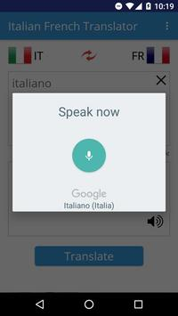 Italian French Translator apk screenshot