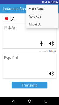 Japanese Spanish Translator apk screenshot