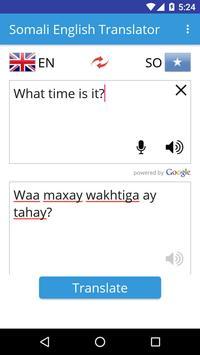 Somali English Translator apk screenshot