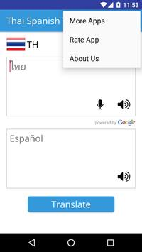Thai Spanish Translator apk screenshot