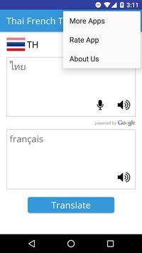 Thai French Translator apk screenshot