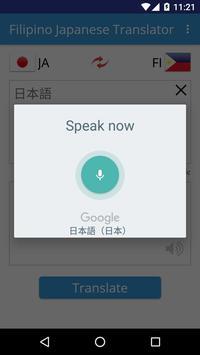 Filipino Japanese Translator apk screenshot