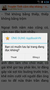 Truyện Tình cảm lãng mạn apk screenshot