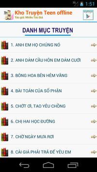 Kho Truyện Teen - Offline apk screenshot