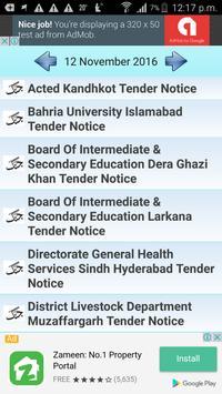 Pakistans Daily Tender Notices apk screenshot