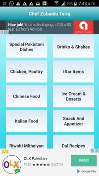 Chef Zubaida Tariq Recipes apk screenshot