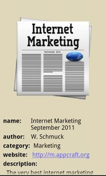 Internet Marketing Ezine poster