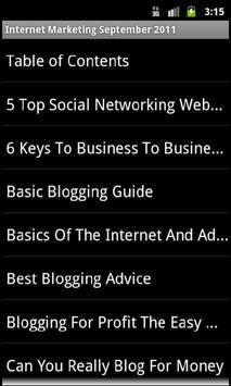 Internet Marketing Ezine apk screenshot