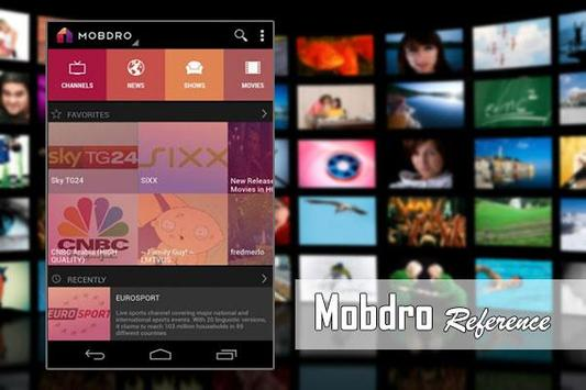 Online Mobdro TV Reference apk screenshot