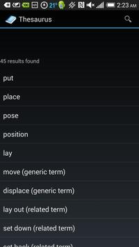 Thesaurus apk screenshot